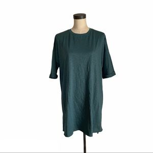 NWT ASOS dark green hi-low maternity T-shirt